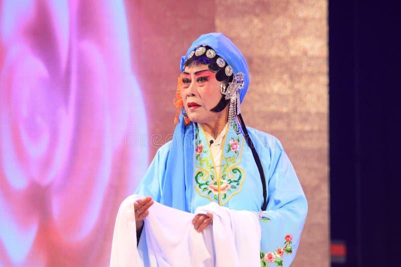 Chinese Pingju-Opernleistung in einem Theater lizenzfreies stockfoto