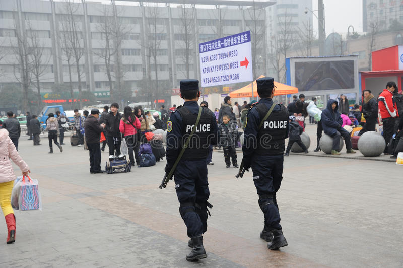 Chinese politie stock foto's