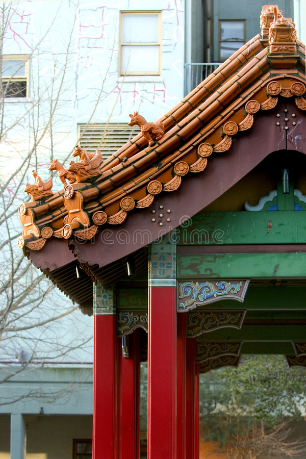 Chinese Poort In Chinatown Stock Foto