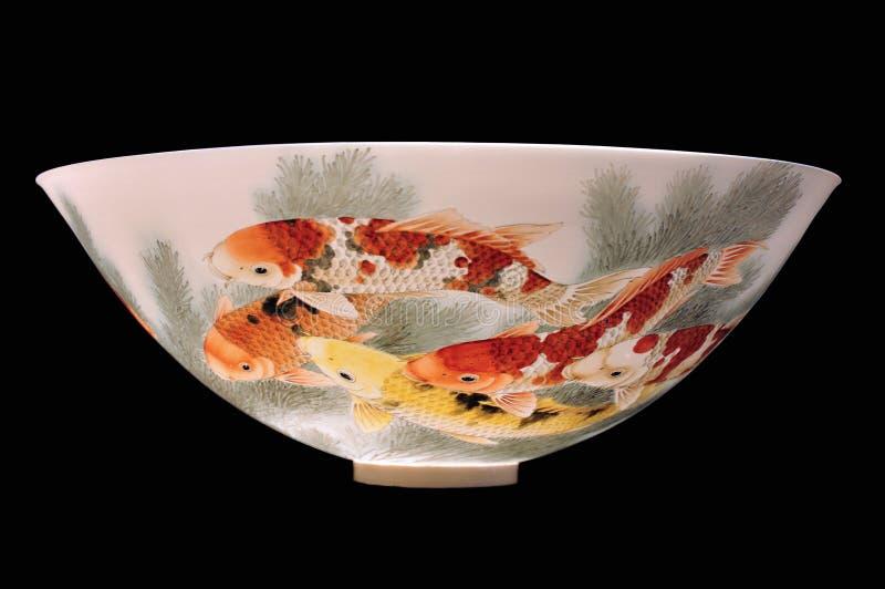 Chinese porcelain bowl isolated stock photo