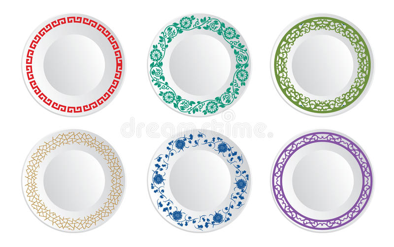 Chinese porcelain plate royalty free illustration