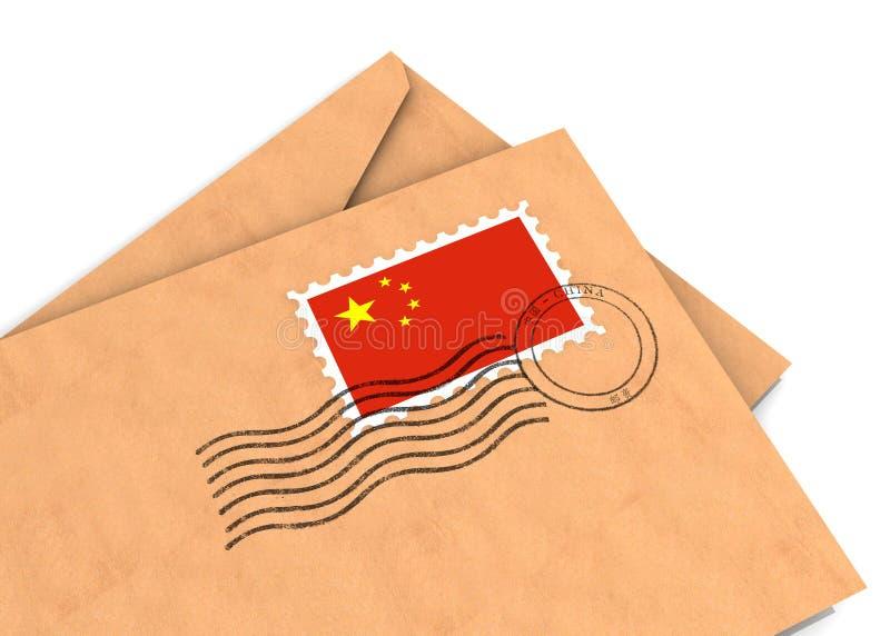 Chinese post royalty-vrije illustratie