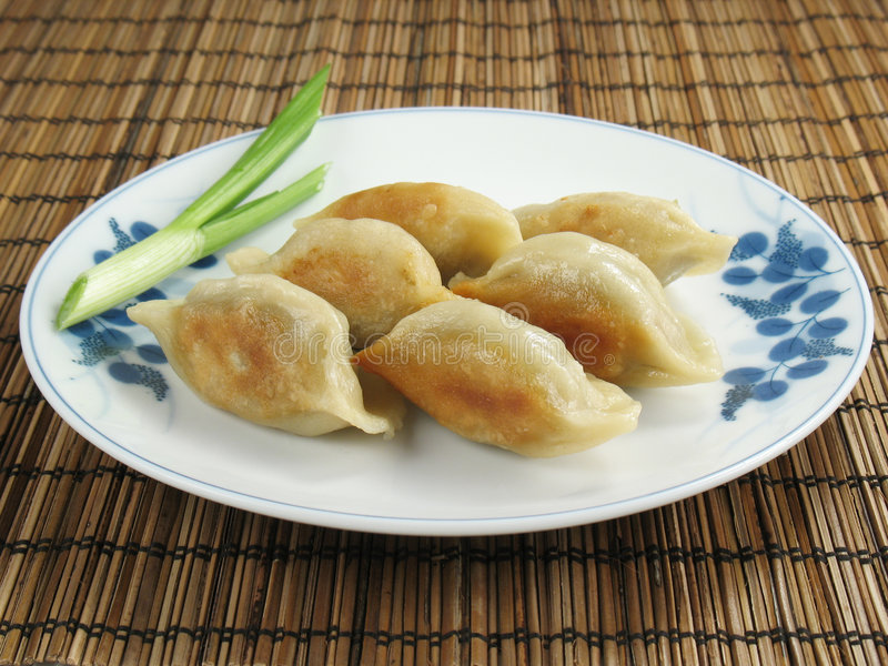 Chinese Potstickers royalty-vrije stock foto's