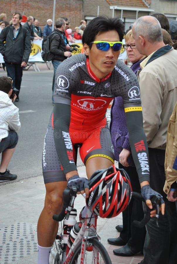 Chinese professionele fietser stock foto