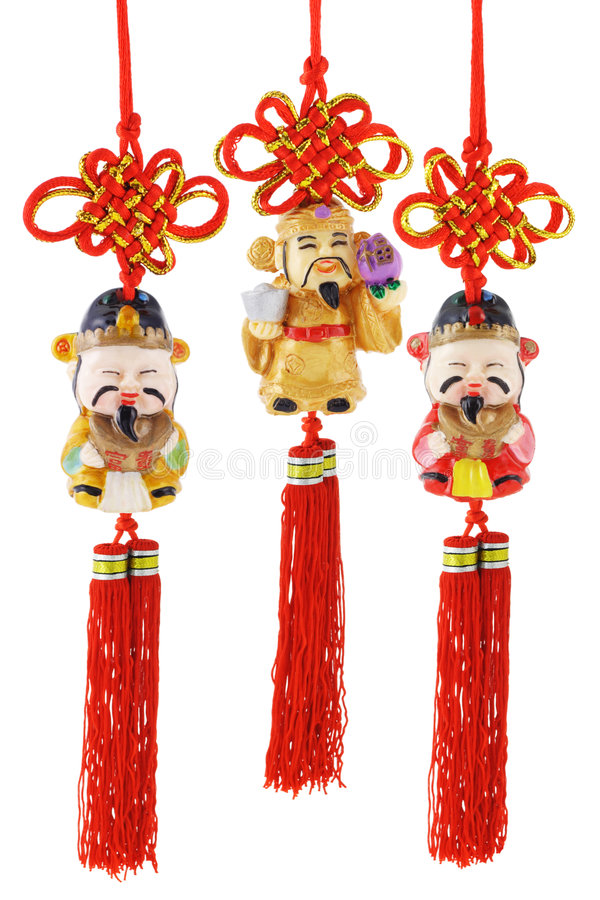 Chinese Prosperity Figurines Stock Images