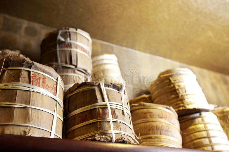 Chinese Puer (Pu-erh) tea stock images
