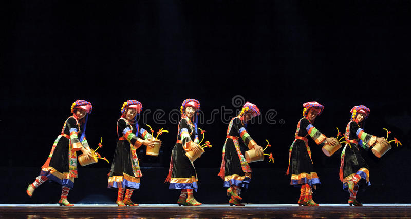 Chinese Qiang Ethnic Dance Editorial Photography