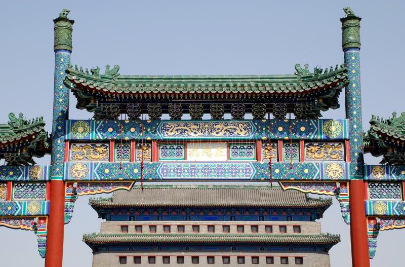 Chinese Qianmen Gate to Tiananmen Square(Beijing) royalty free stock photo