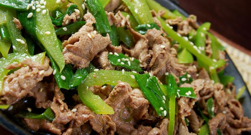 Quick Beef Stir-Fry. Chinese Quick Beef Stir-Fry , close up stock photos