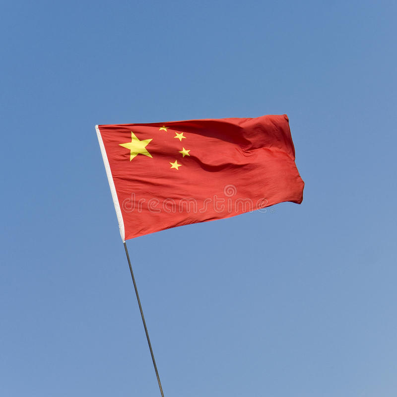 Download Chinese Red Flag With Five Stars Stock Image - Image of golden, blue: 11167313