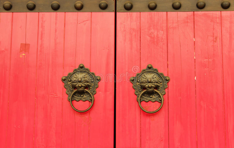 Chinese red gate background stock images