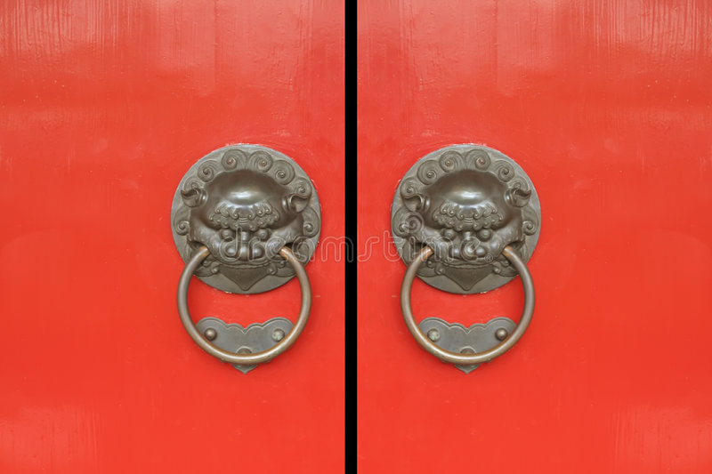 Chinese Red Gates Doors Royalty Free Stock Images
