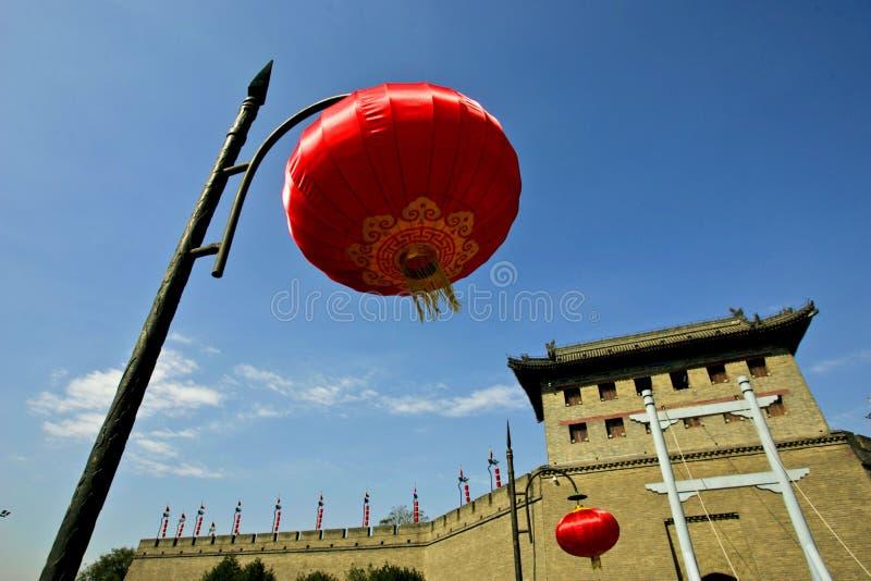 Chinese red lantern stock photo