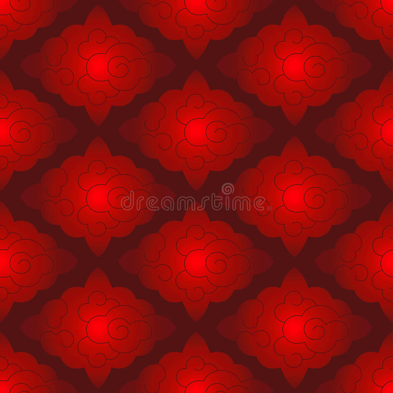 Chinese red pattern royalty free illustration