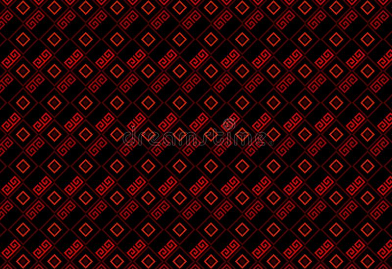 Chinese red textured pattern background. Illustration design. Abstract, filigree, china, graphic, art, fabric, flannel, creating, wall, concept, shirt, skirt stock photos