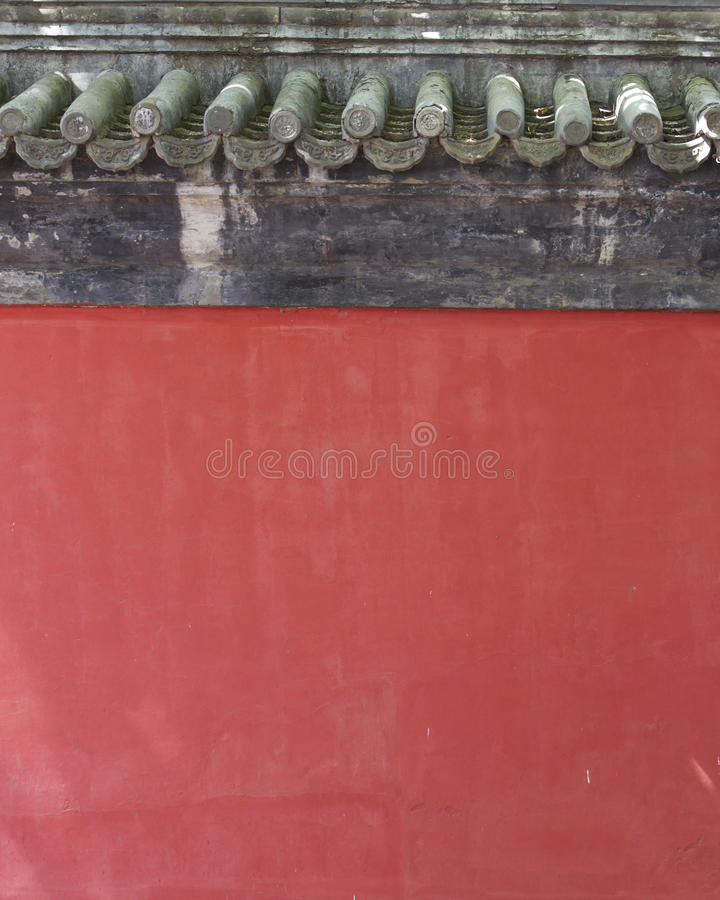 Chinese red wall background stock photo