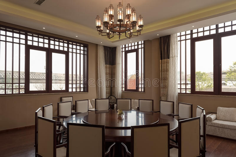 Download Chinese Restaurant Dining Room Editorial Photo
