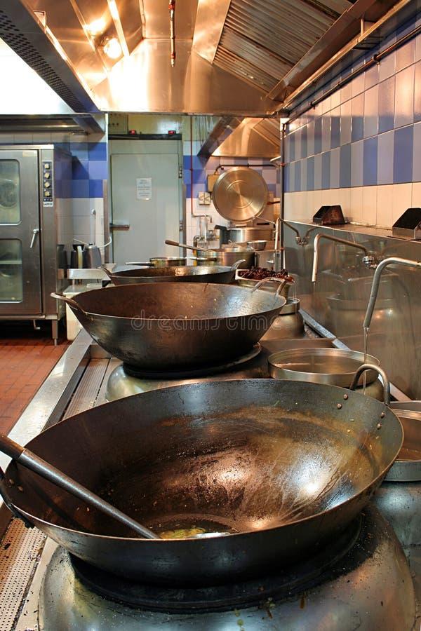 Chinese Restaurant Kitchen Stock Image