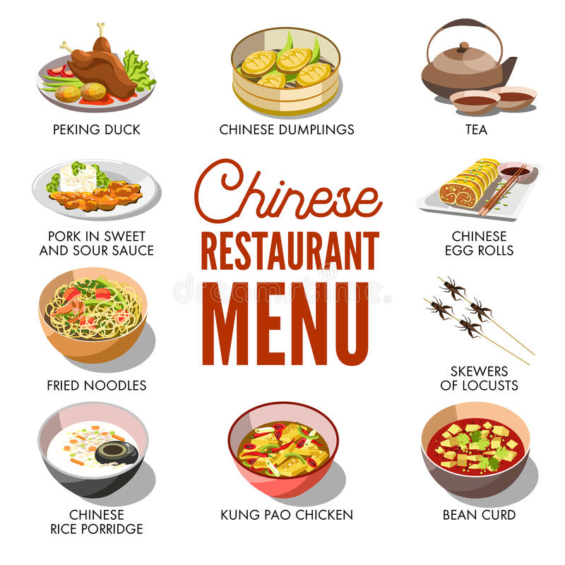 Chinese Restaurant Menu Cover Vector Template Design Stock Vector ...