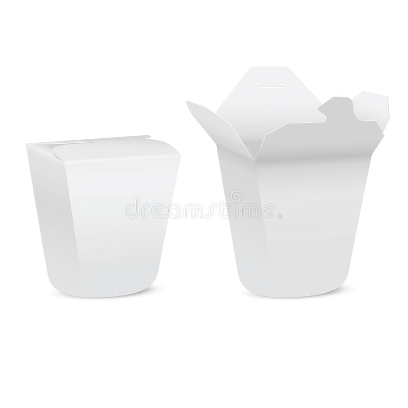 Chinese Restaurant Take-out Box Royalty Free Stock Photos