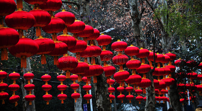 Chinese rode lantaarns stock fotografie