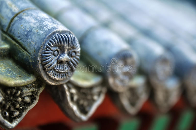 Download Chinese roof tiles stock photo. Image of levels, building - 22992138