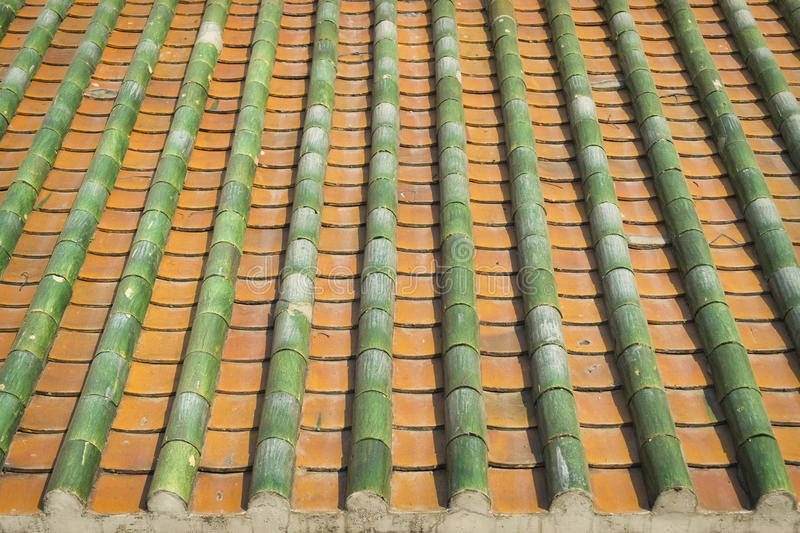 Chinese roof tops vintage and background photo. Chinese roof tops vintage and background stock image