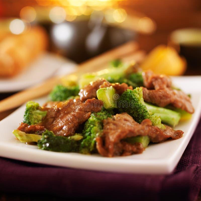 Chinese Rundvlees en Broccoli royalty-vrije stock foto