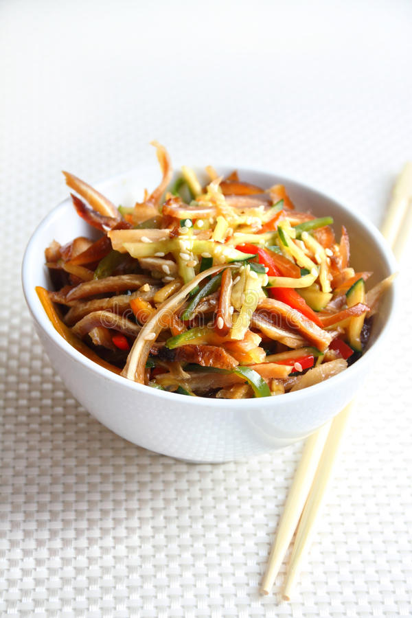 Download Chinese Salad With Pig Ears And Vegetables Stock Photo - Image: 33379652