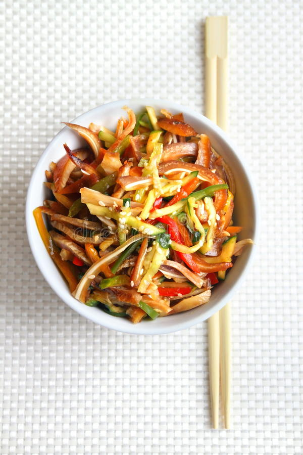 Download Chinese Salad With Pig Ears And Vegetables Stock Image - Image: 33379681