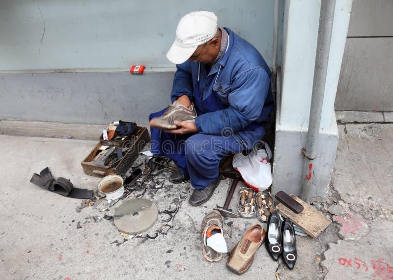 Chinese schoenmaker royalty-vrije stock afbeelding