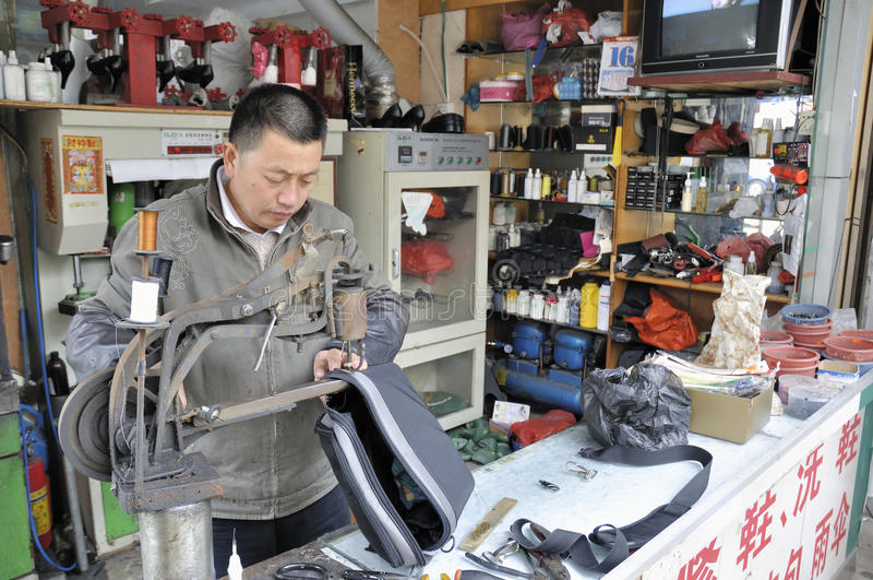 Chinese schoenmaker royalty-vrije stock fotografie