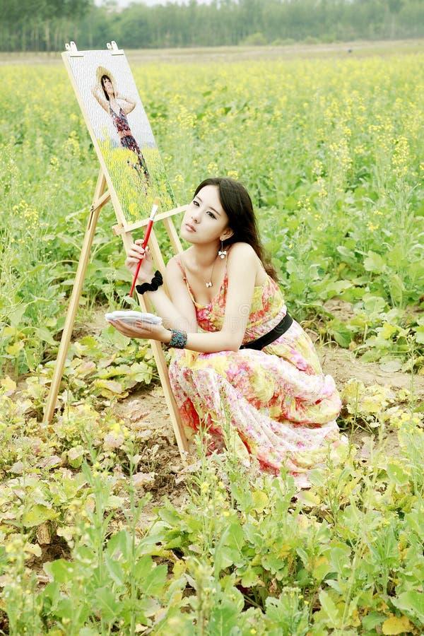 Chinese schoonheid openlucht stock fotografie