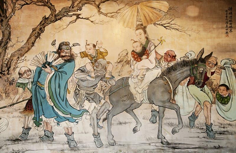 Chinese schrijver uit de klassieke oudheid stock foto's