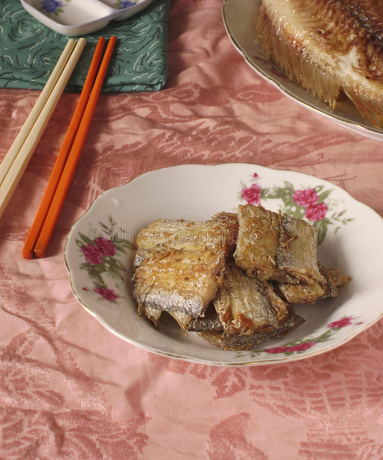 Chinese seafood braised fish fillets royalty free stock photos