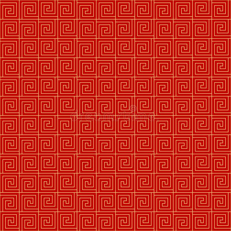 Chinese seamless pattern. Red and golden chinese traditional ornament background. Vector illustration vector illustration