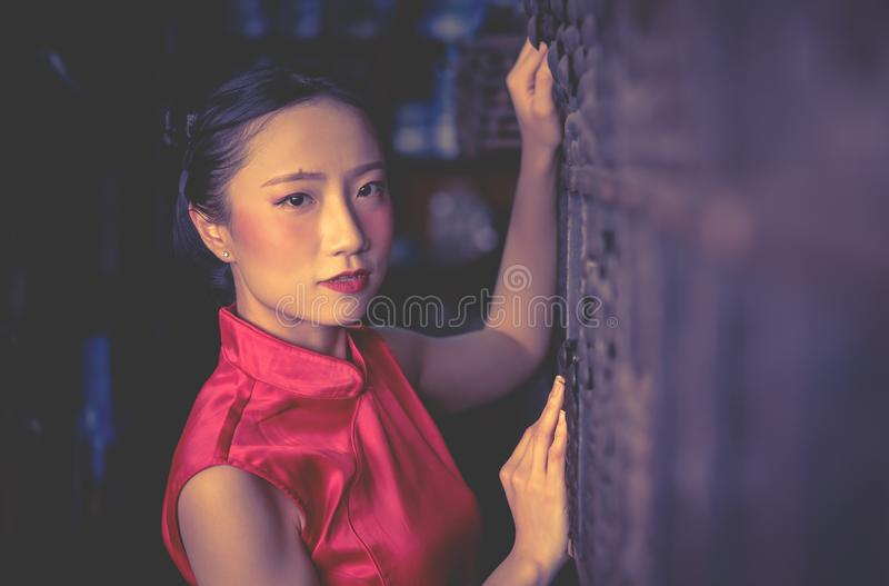 Chinese seller worker in a steel metal store shop royalty free stock photo