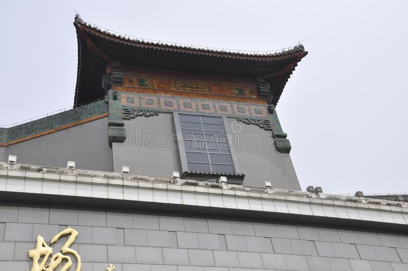 Chinese Shopping Center building details in Beijing of China stock image