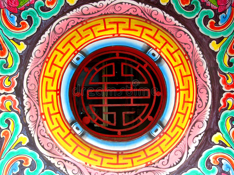 Download Chinese shrine detail stock image. Image of green, religious - 111283