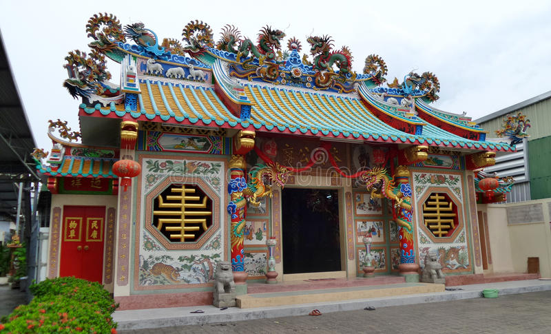 Chinese Shrine in Rayong Ptovince Thailsnd royalty free stock image