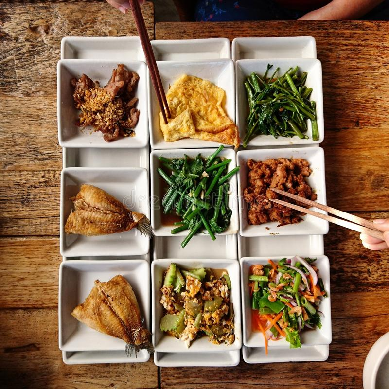 Chinese sides dish stock images