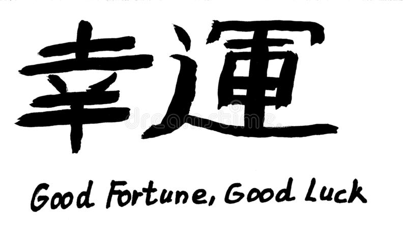 Chinese Sign for Fortune, Luck royalty free illustration