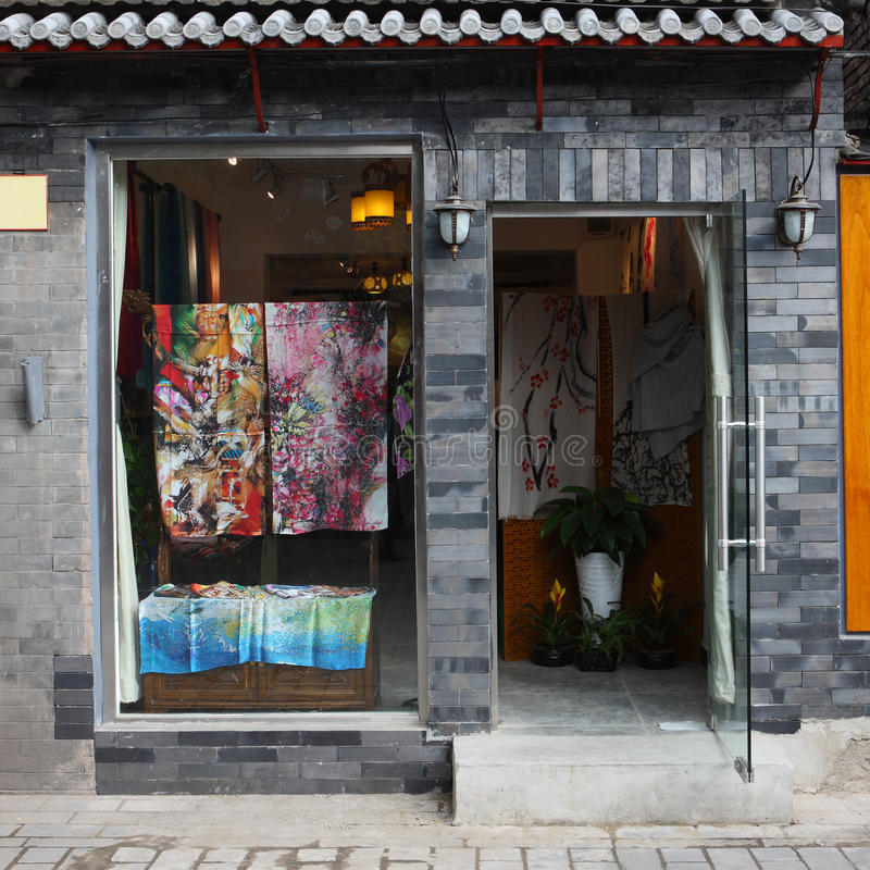 Chinese silk shop