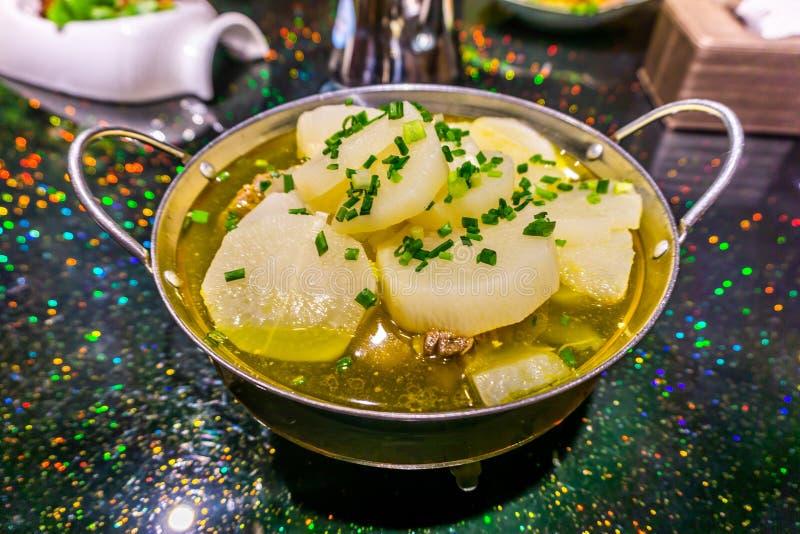 Chinese Sliced Radish Soup royalty free stock photo