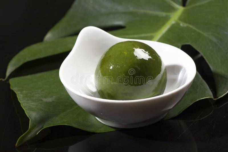 Chinese snacks, groene bol royalty-vrije stock foto
