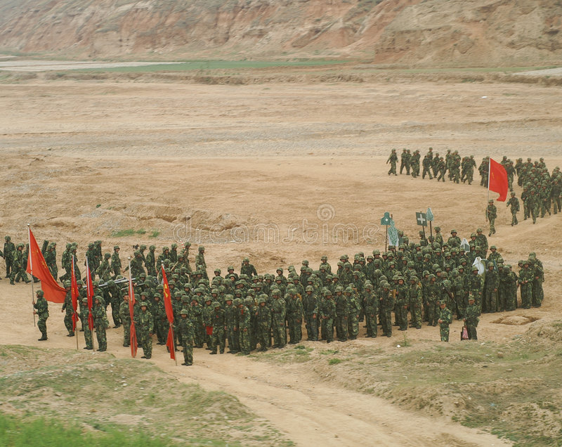Chinese soldiers royalty free stock photo