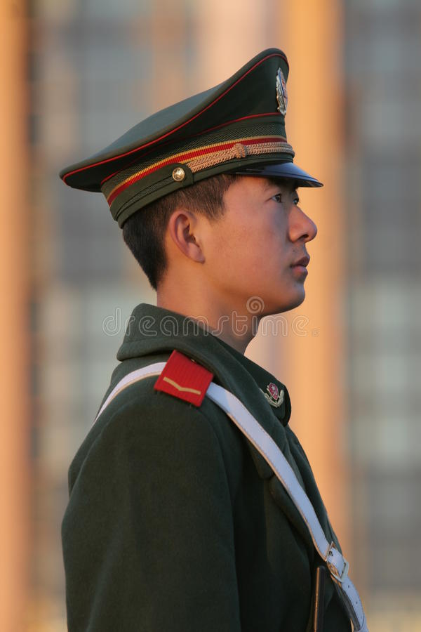 Chinese solider royalty free stock photo