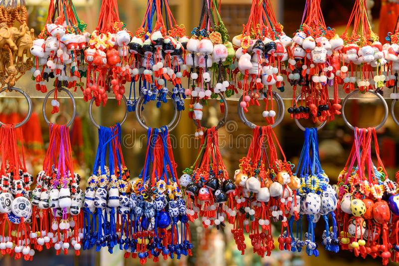 Chinese souvenirs, good luck charm, lucky charm, mojos stock images