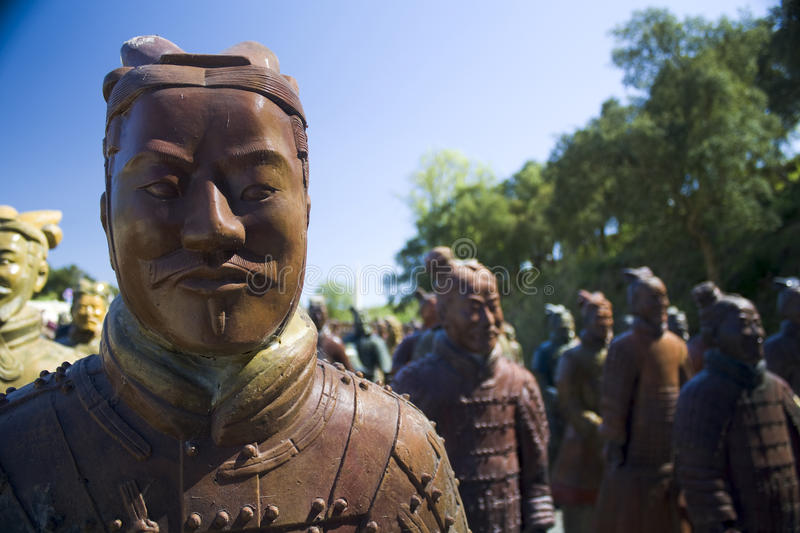 Chinese standbeelden stock foto