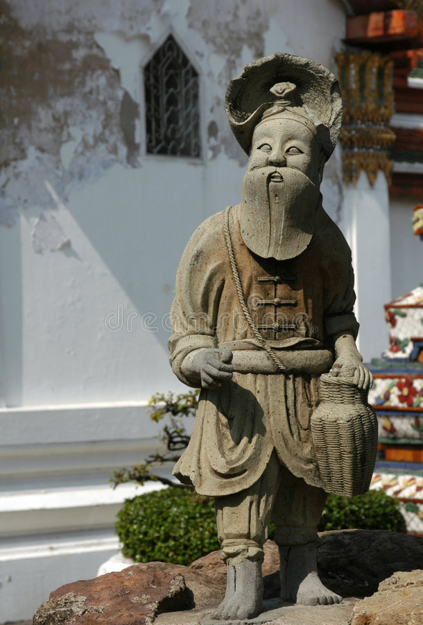 Download Chinese Statue stock image. Image of asia, beard, indo - 500975